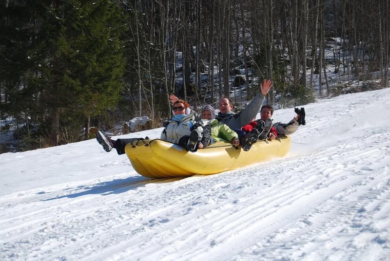 Snow rafting Slovenia