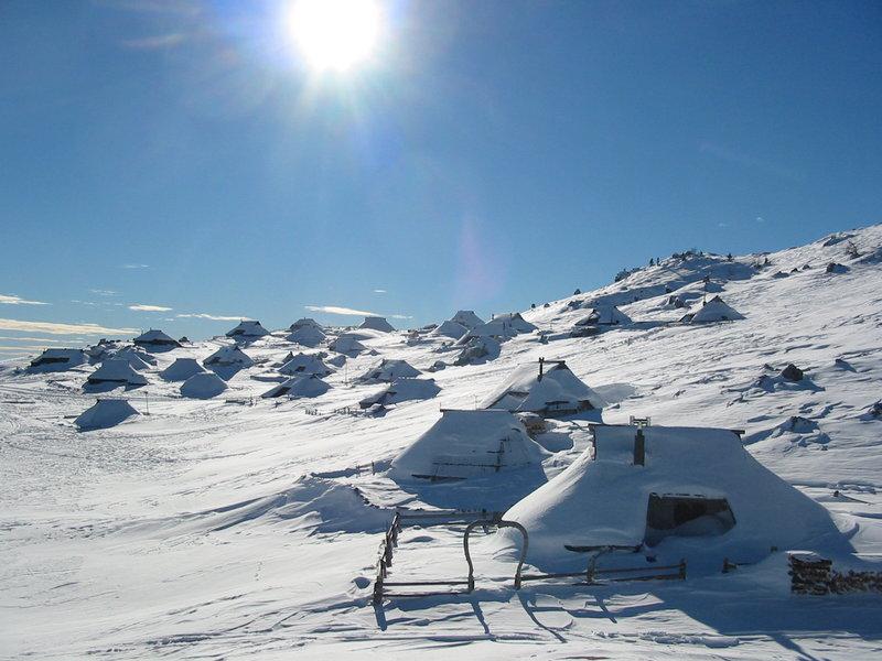 Velika Planina winter trekking