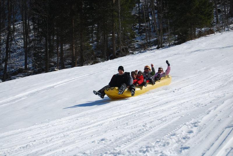 Rafting na snegu v Logarski dolini