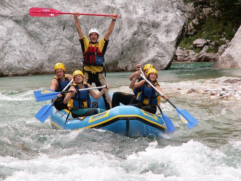 Bovec - Rafting na Soči