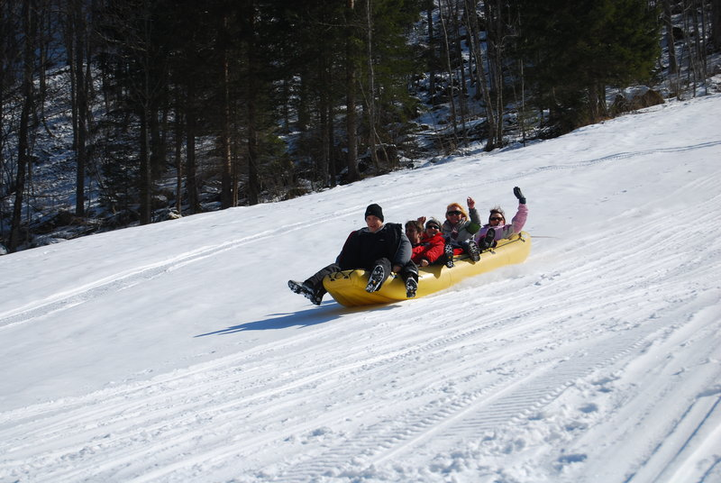 Snow rafting Logarska dolina Slovenia