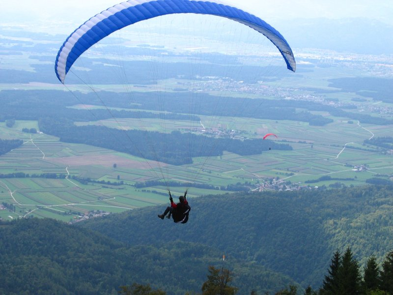Great views from paragliding Krvavec