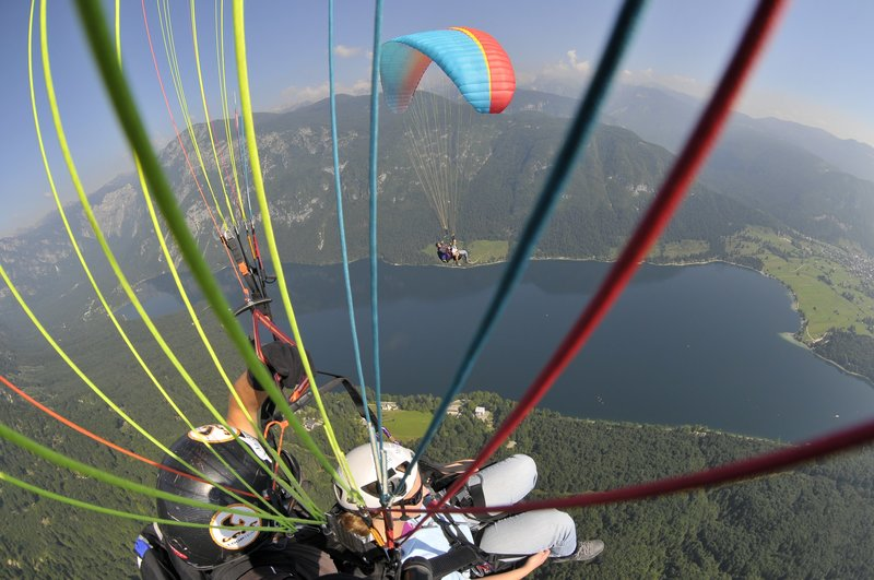 Slovenia outdoor activities - tandem paragliding