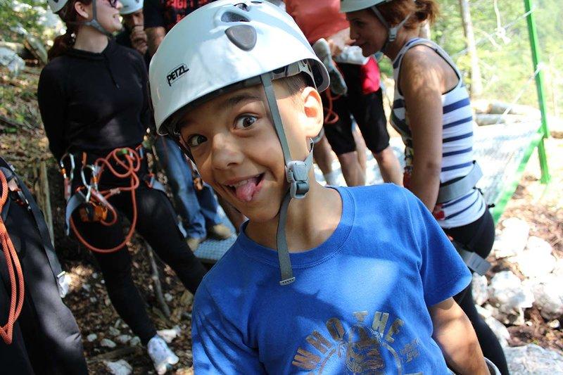 Zipline Bovec - tudi za otroke